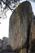 Rock Climbing Photo: 4 star 5.9  (5.13b), Holcomb Valley Pinnacles