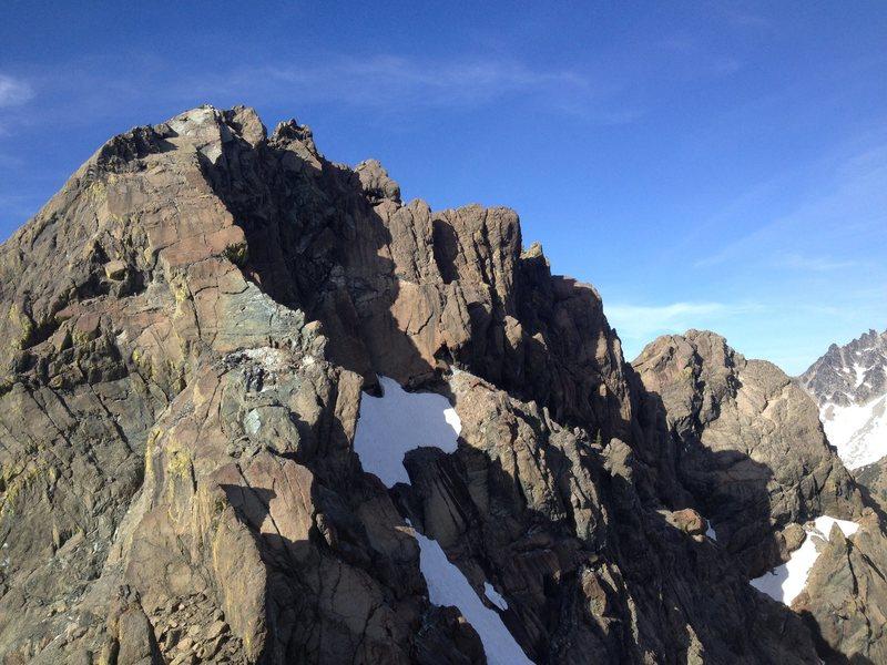 Ingalls North Peak, South Ridge route. Photo taken from Ingalls South Peak.