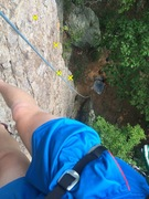 Rock Climbing Photo: Birdseye view of Razors Edge