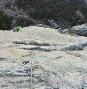 Rock Climbing Photo: Clay on pitch 2.