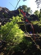 Rock Climbing Photo: Circus Act into Black Prow