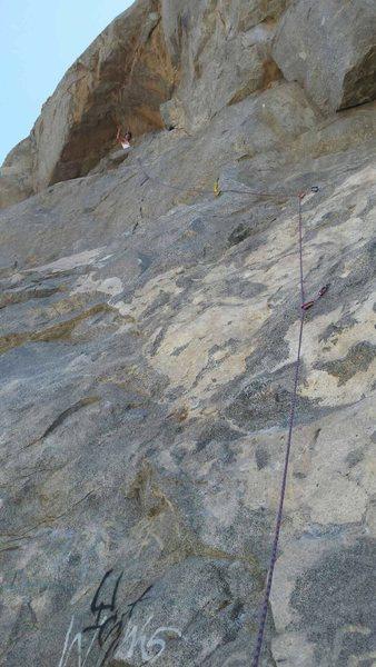 Fun climb, close bolts make for easy lead exp.