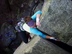 Rock Climbing Photo: The exit moves
