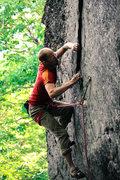 Rock Climbing Photo: Hard move!
