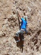 "Rock Climbing Photo: Working the moves at the start of ""Before the..."