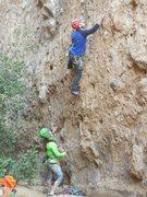 "Rock Climbing Photo: Carlos and Roxanna starting up ""Betty."""
