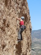 """Rock Climbing Photo: Near the 2nd bolt on """"Before the Storm."""""""