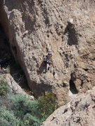 "Rock Climbing Photo: Nearing the 3rd bolt on ""Broadband Connection..."