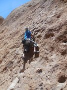 """Rock Climbing Photo: Searching for holds on """"Unknown."""""""