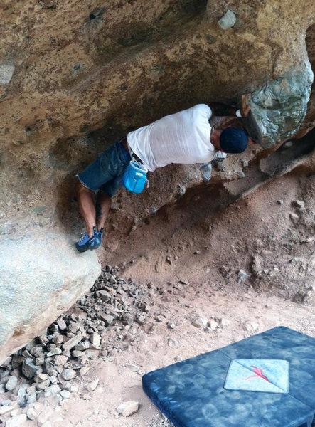 Rock Climbing Photo: Half turn