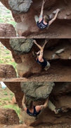 Rock Climbing Photo: First three moves. From here, get yourself on the ...