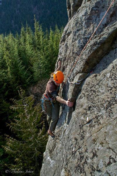 Rock Climbing Photo: Matt C. cleanin' up scarface.