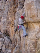 Rock Climbing Photo: gettin after it; Snow Blind 9+