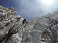 Rock Climbing Photo: Going up Bear Creek Spire