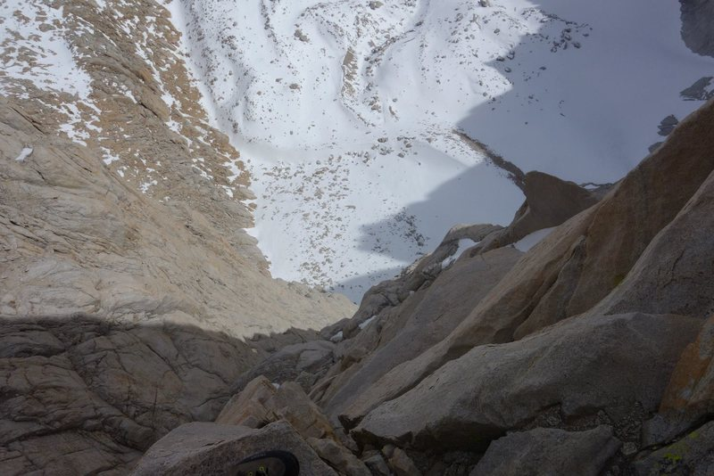 Rock Climbing Photo: Exposure on Whitney Fresh Air Traverse.