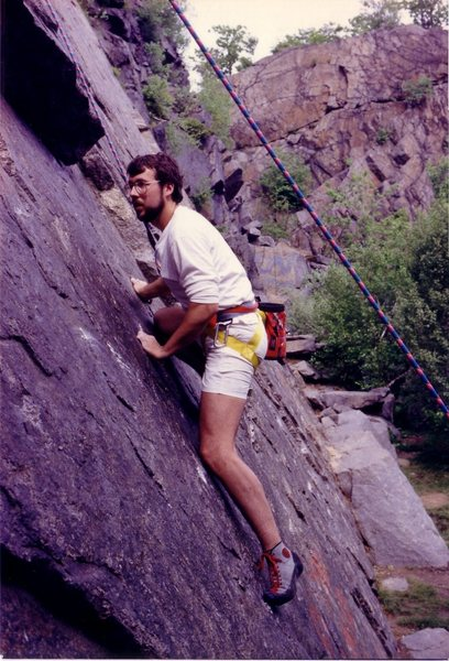 Alan Brunelle on double overhang - 1988
