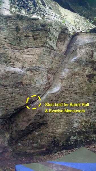 Rock Climbing Photo: Barrel Roll and Evasive Maneuvers.