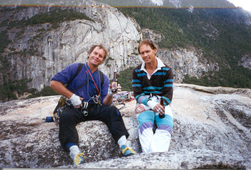 Rock Climbing Photo: The Evil Twins on top of the Rostrum Sept 1996