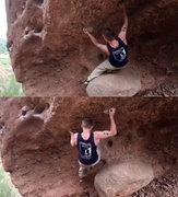 Rock Climbing Photo: Getting to huecos