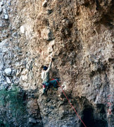 Rock Climbing Photo: Early ascent of one of my luckiest finds on the mo...