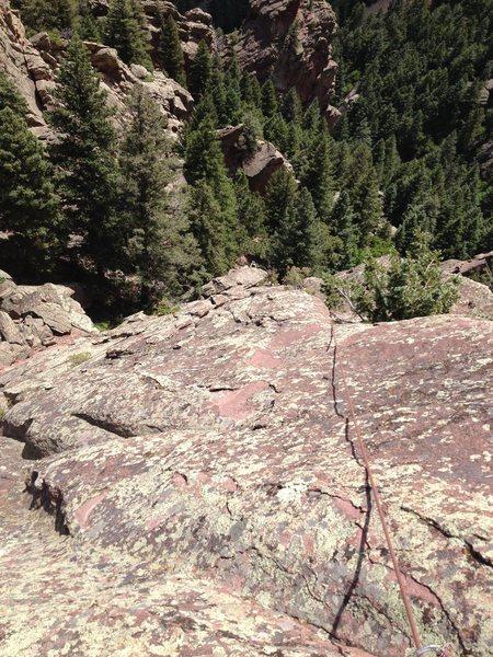 Rock Climbing Photo: Looking way down the South ridge.