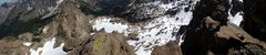 Panorama from just below final pitch, looking back to the knife edge section