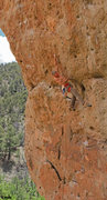 Rock Climbing Photo: Ed heads straight up where  Shipwrecked goes left ...