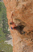 Rock Climbing Photo: The new harder start (Chips Ahoy) adds 5.13 start ...