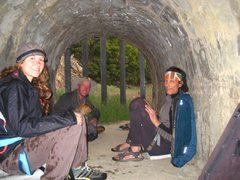 Rock Climbing Photo: In the tunnel during thunder showers
