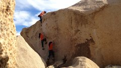 Rock Climbing Photo: This was my first boulder problem outside.  Kind o...