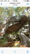 Rock Climbing Photo: project in small formation of rocks behind blair w...