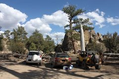 Rock Climbing Photo: A typical weekend at the Camp Rock parking area, H...