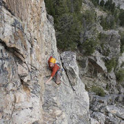 Rock Climbing Photo: Last Pitch on Baxter's