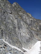 Rock Climbing Photo: Granite faces from base of the NE Couloir Rt.