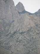 Rock Climbing Photo: North face of Card Deck as seen from the Baylor Pa...