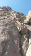 Rock Climbing Photo: Briana on Pitch 1. Photo climber pat.