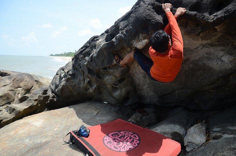 Rock Climbing Photo: some horizontal time on a climb