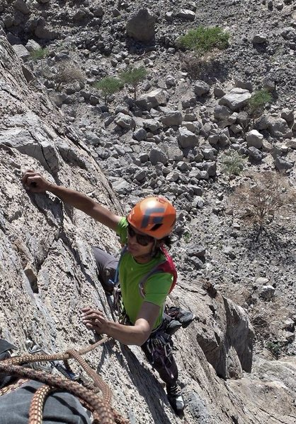 Rock Climbing Photo: Columbus 90m 6c (RAK, UAE )