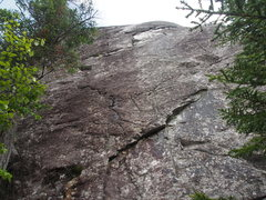 Rock Climbing Photo: The middle and right of the 3 routes on the topo-s...