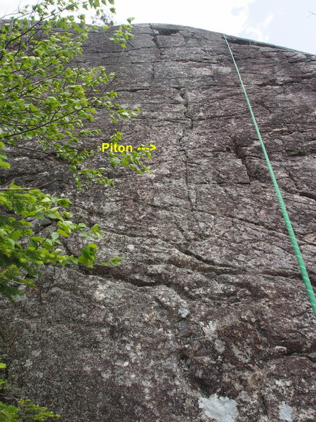 Rock Climbing Photo: Left-most of the 3 North / West Face climbs on the...