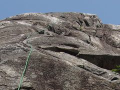 "Rock Climbing Photo: Top section of ""the Trunk""; route may ex..."