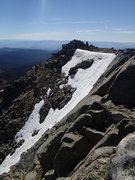 Rock Climbing Photo: Top of NE Couloir.