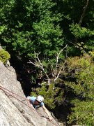 Rock Climbing Photo: Coming up the right side of the micro crag