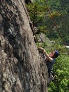 Rock Climbing Photo: A climber on the right side