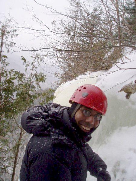 Rock Climbing Photo: Andrew smiling