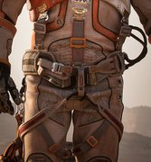 Rock Climbing Photo: Here is a front view of the harness.