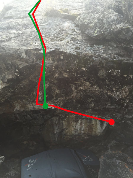 Both routes on the overhang.