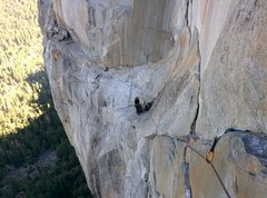 Rock Climbing Photo: Looking back down to Guano/Ahwahnee