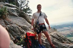 Rock Climbing Photo: I'm getting old.  13 years ago on the Durrance rou...