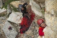 Rock Climbing Photo: Thomas negotiating the crux on Eco Challenge (5.11...